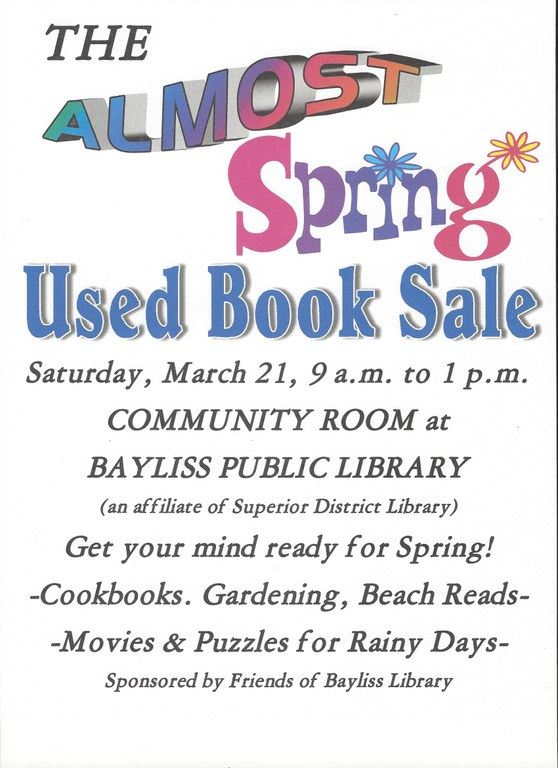 Friends' Spring Book Sale Poster
